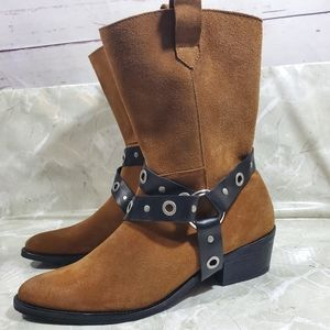 Free People X Farylrobin Harness Moto Boots Sz 10
